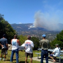 Mobile Post: Locals Watching Fire in Santa Barbara