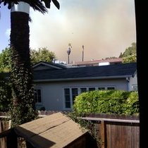 Mobile Post: SB Fire! Looks really close...