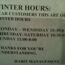 Spanish-Speaking Goleta Crack Dispensary Posts Winter Hours?