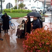 MLK Day in SB - Marching in the Rain