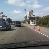Mobile Post: Right lane closed @ Carrillo