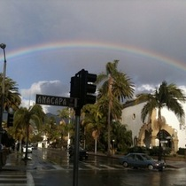 Mobile Post: Massive Rainbow Over Santa Barbara Courthouse