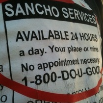 In Mexican Spanish, Sancho Is The Guy Partying With Your Wife