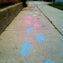 Mobile Post: Awesome Random Sidewalk Art