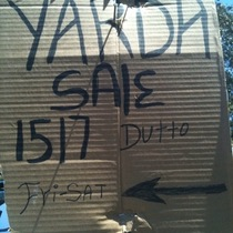 This Yarda Is Not A Yard Of Beer But Actually A Yard Sale