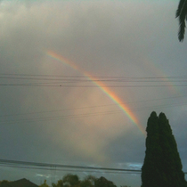 RAINBOW OVER SB! OMG! WHAT DOES THIS MEAN?