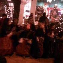 Mobile Post: Mini Christmas Carollers at La Arcada