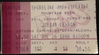 Julian lennon ticket stub