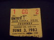 Journey stub june 3, 1982