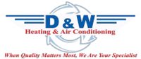 Website for D & W Heating & Air Conditioning, Inc.