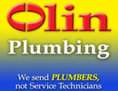 Website for Olin Plumbing, Inc.