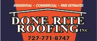 Website for Done Rite Roofing, Inc.