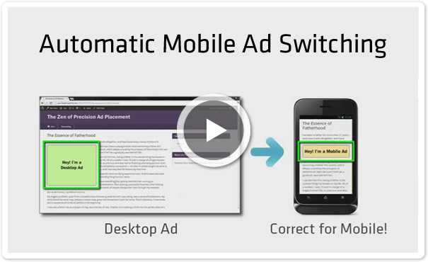 Mobile Device Detection and Automatic Ad Switching