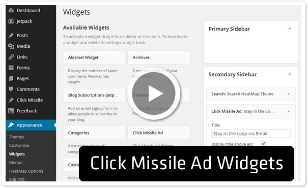 Click Missile Ad Widgets