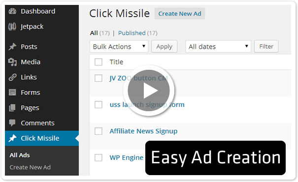 Easy to use WordPress Ad manager