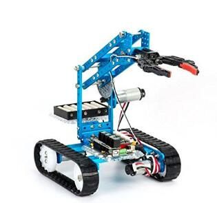 http://www.makeblock.com/ Makeblock mBot Ultimate 2.0-10-in-1 STEM robot kit that you can program from your PC or tablet. It has anodized aluminum mechanical parts and 3 encoder motors.