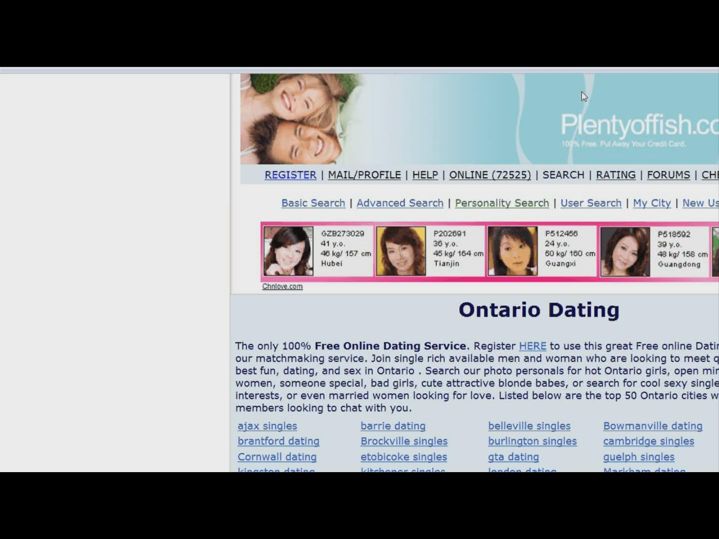 online dating ontario