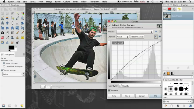 how to make a picture opaque in gimp