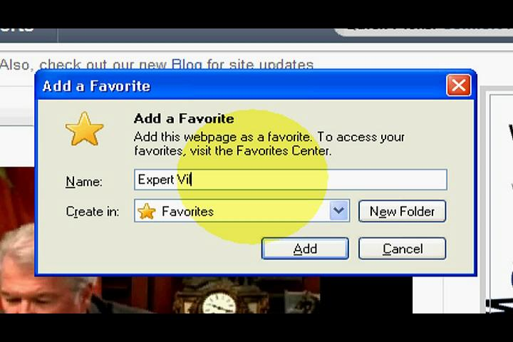 Video: How to Add a Favorite Webpage to Your Favorites on ...