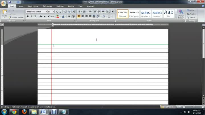 Video How to Make Lined Paper With Microsoft Word – Lined Paper Word Template
