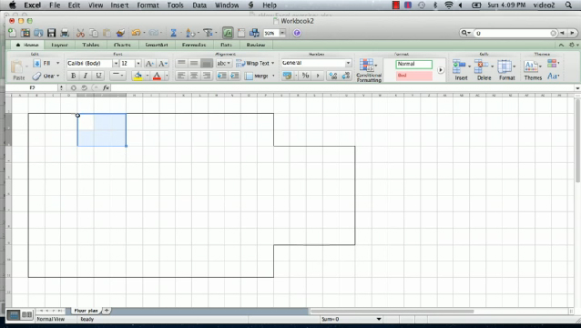 Video how to make a floorplan in excel ehow How to make a floor plan