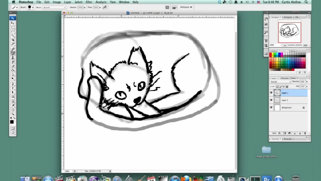 how to draw a cat video