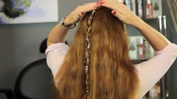video how to braid a string in your hair ehow