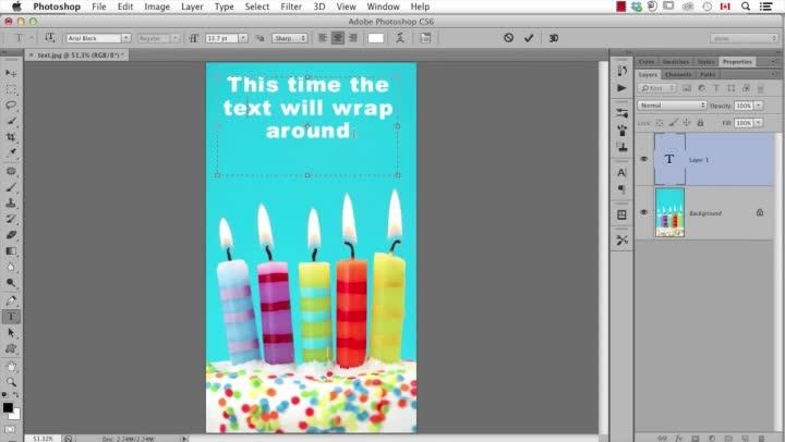 Wrap Text into a Shape Using Photoshop CC - TechnoKids Blog
