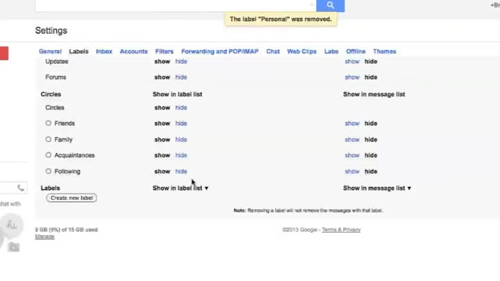 how to save a search in gmail as a label