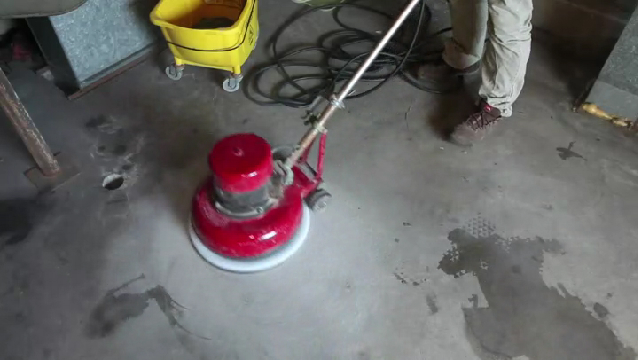 Video how to remove old paint from concrete floors ehow for Can you polish old concrete floors