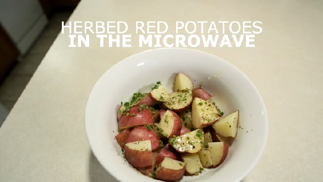 how to cook red potatoes in the microwave