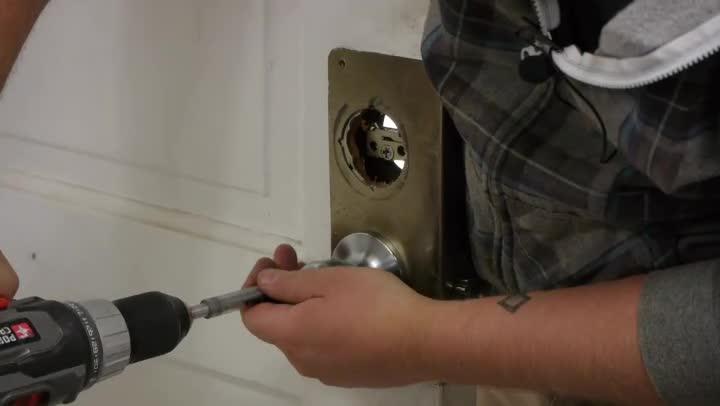 Video How To Install An Exterior Door Knob Dead Bolt Ehow