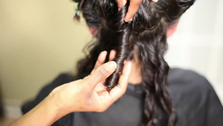how to make black hair wavy overnight