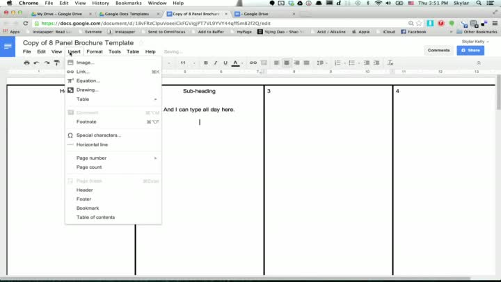 video  how to make a brochure using google docs