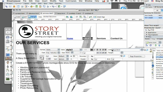 how to create emails with dreamweaver