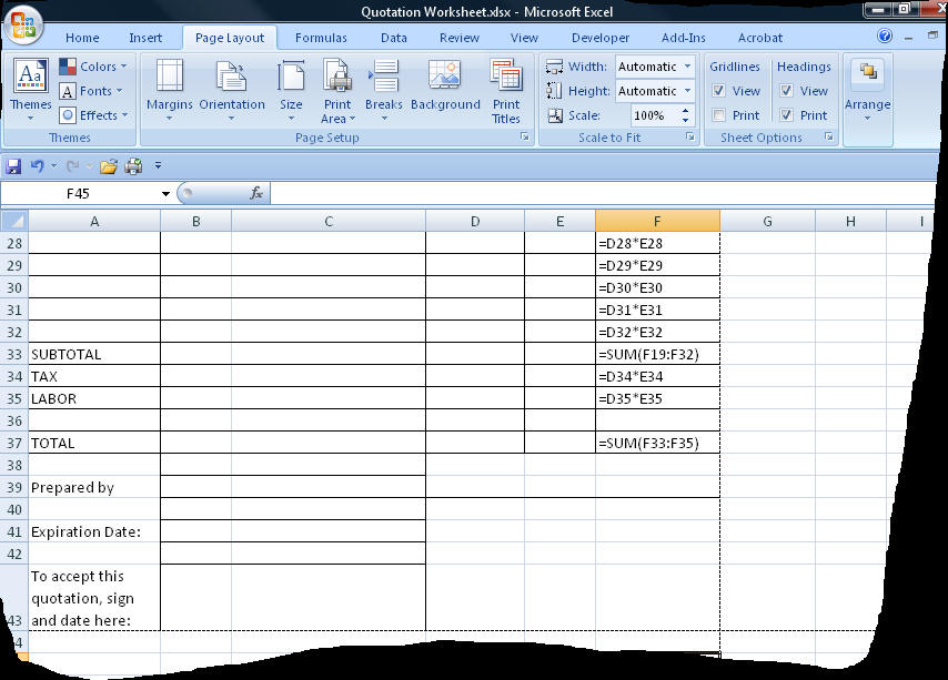 How To Use Excel To Build A Quoting System  It Still Works