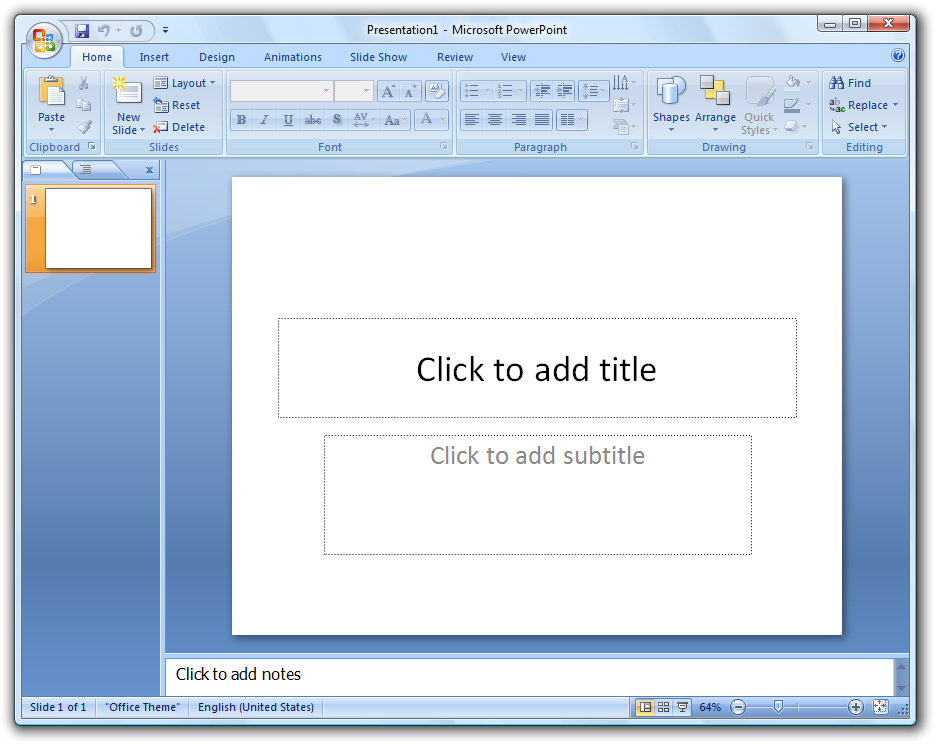 Ms office powerpoint