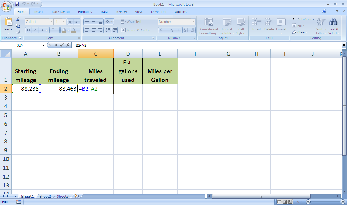 how to compute total number of hours worked in excel