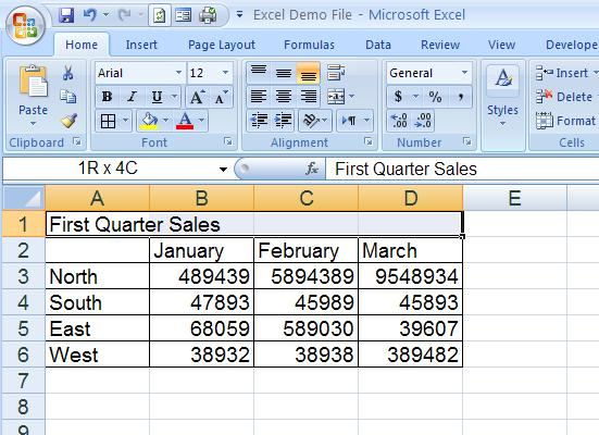 how to merge and center headers in microsoft excel 2007. Black Bedroom Furniture Sets. Home Design Ideas