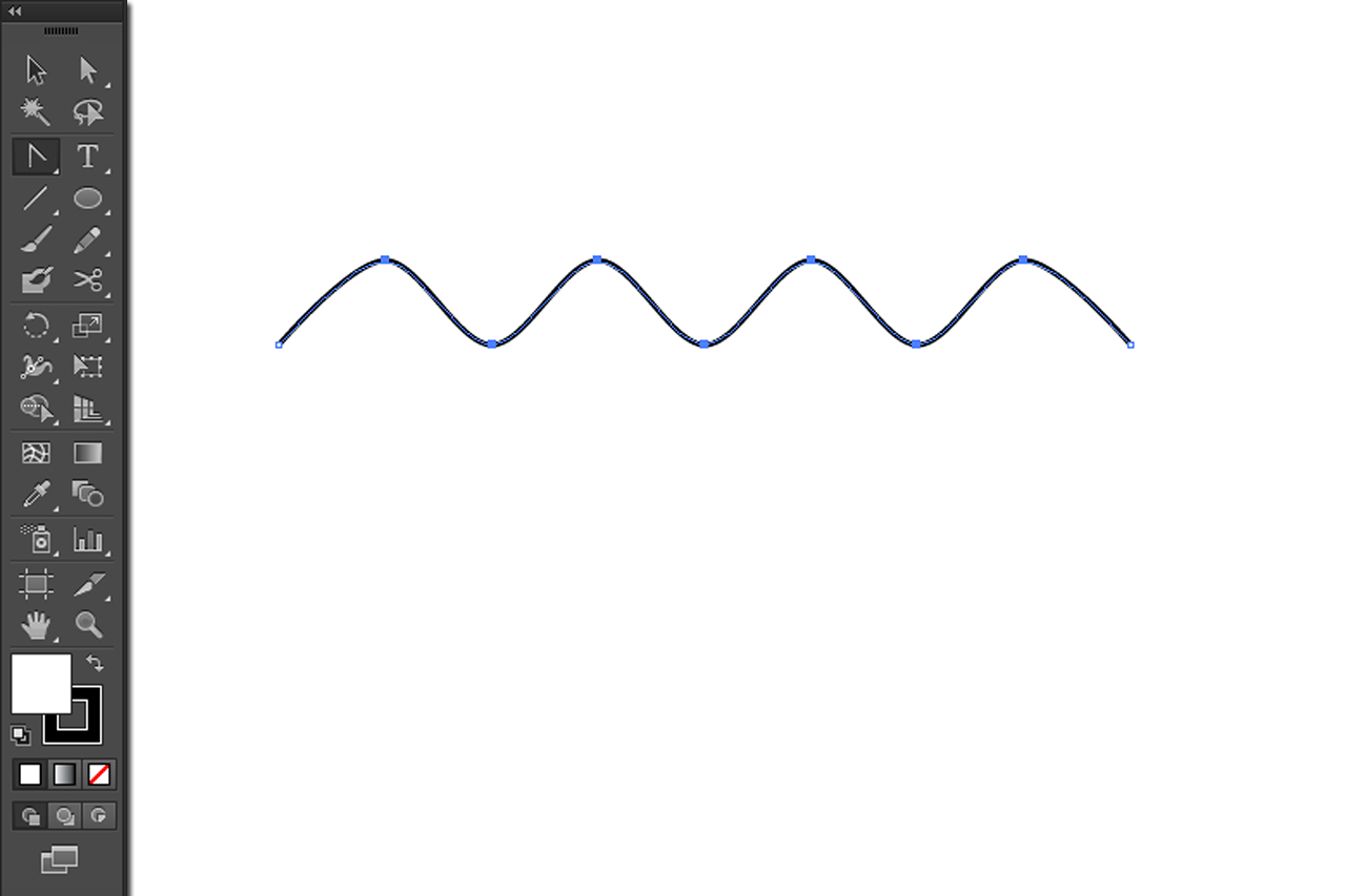 Drawing Lines In Illustrator : How to make wavy or zigzag lines in illustrator