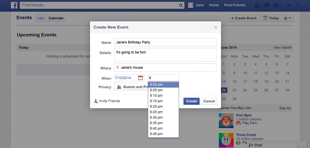 how to make an event on facebook public