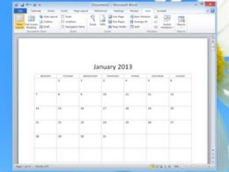 Blank Calendar To Use In Word : How to insert a functional calendar in ms word techwalla