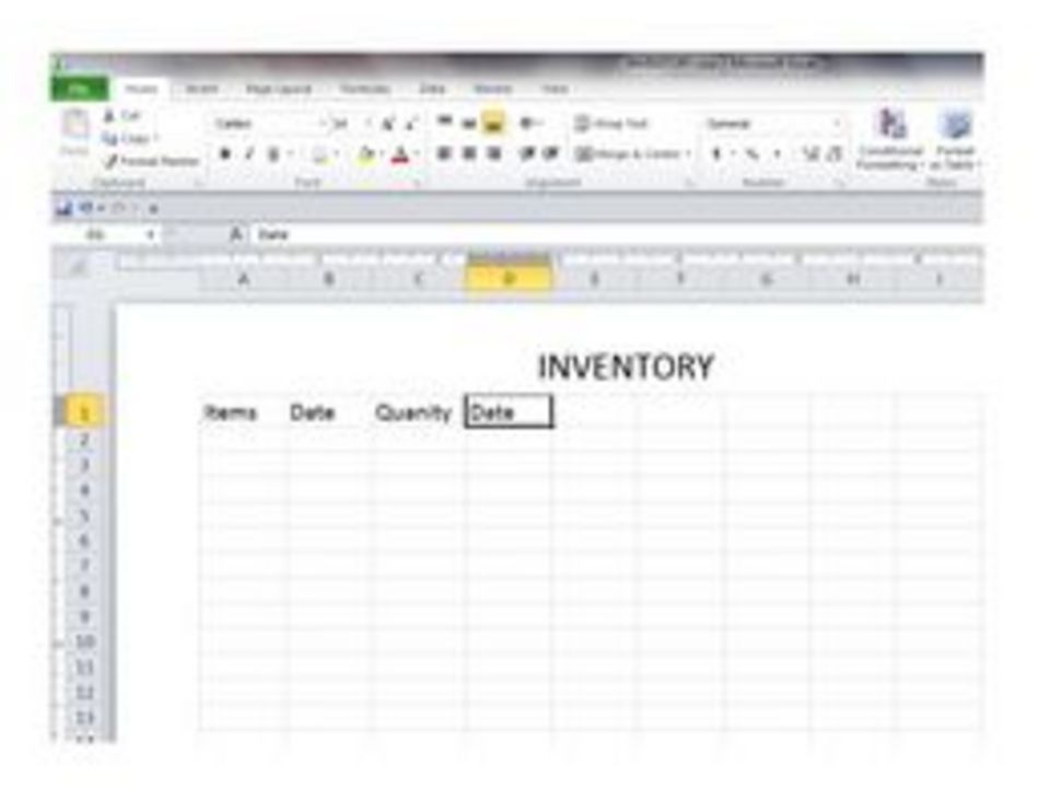 how to create a basic excel spreadsheet