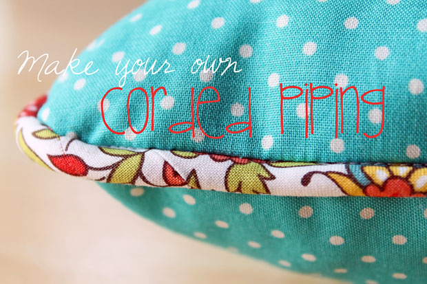 The Beauty of Bias Tape Part 5: Recover an Old Pillow with DIY Corded Piping eHow Crafts eHow