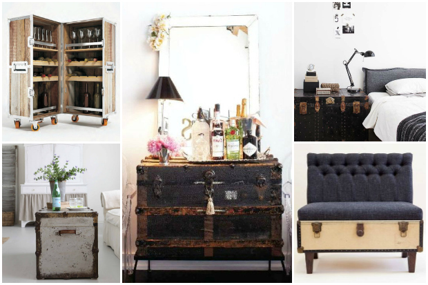 5 Clever Ways To Rework Vintage Trunks Into Functional