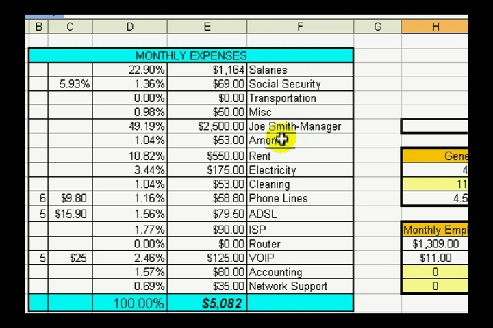 Video: View A Sample Spreadsheet in Microsoft Excel | eHow