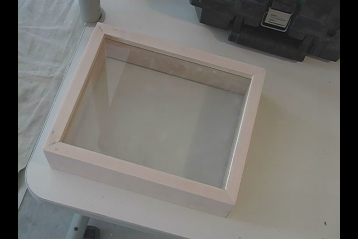 taping glass for shadow box frame