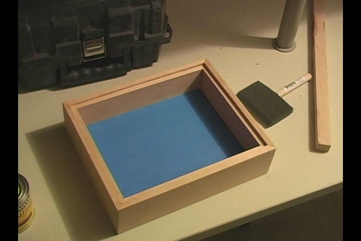 video staining frame for shadow box frame ehow