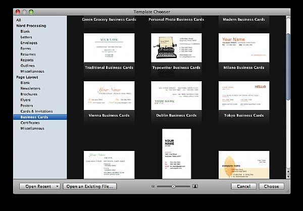 How to make business cards with apple pages 3909 it still for Business cards templates for mac