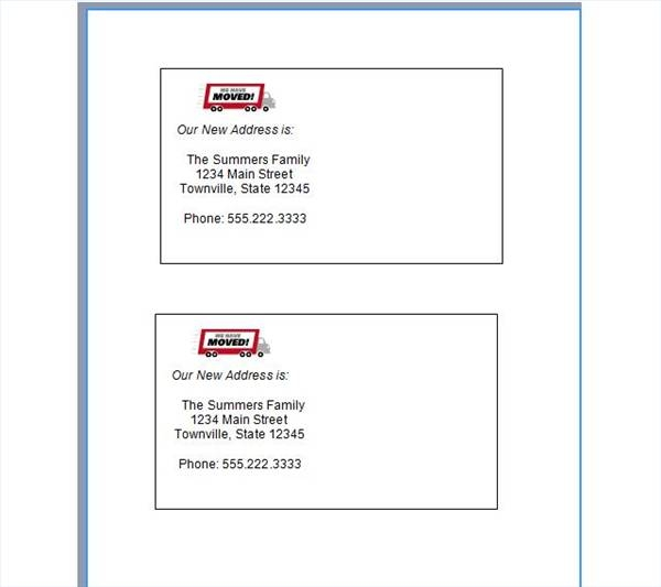 How to Print Change of Address Cards – Print Change of Address Form